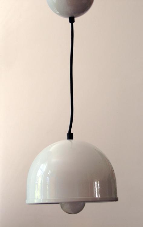 Piuluce seventies enameled metal pendant