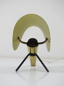 Rare Ernest Igl vintage fifties metal design table or wall lamp