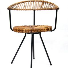 Rohé fifties retro rotan chair