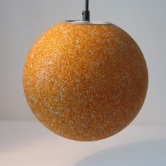 Seventies plastic grain yellow / orange vintage retro pendant