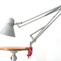 Sixties vintage grey industrial task light