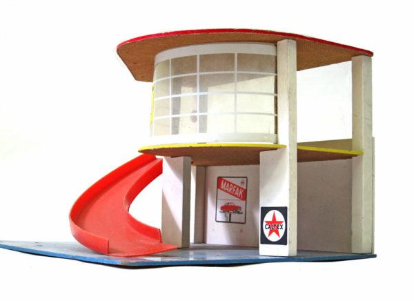 Fifties vintage wooden toy garage