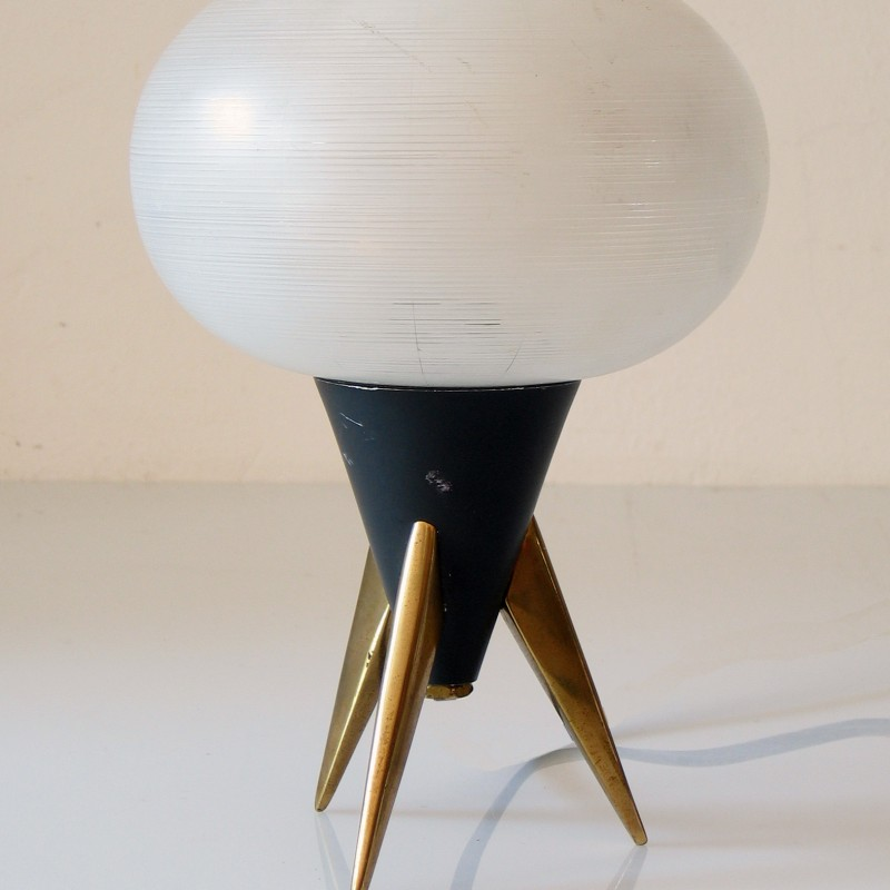 Sputnik style vintage fifties table lamp