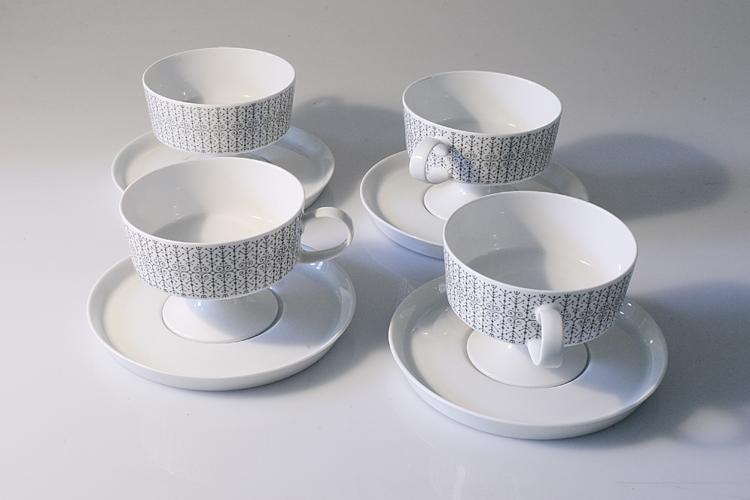 Tapio Wirkkala fifties cups & saucers set