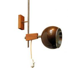 Temde wall lamp, wood and metal, vintage retro