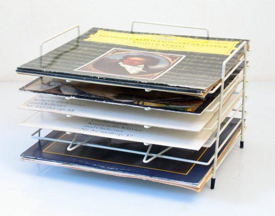 Mategot style vintage LP rack - Jean Prouve, Charlotte Perriand, Tomado, Pilastro Fiedeldij, Aalto, fifties, sixties, Artimeta, eames