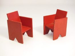 Twenties de Stijl dollhouse chairs