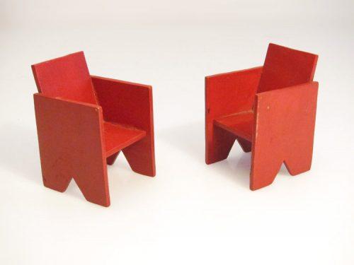 Twenties de Stijl dollhouse chairs