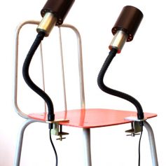 Two flexible table lamps, desk lamp, 60s