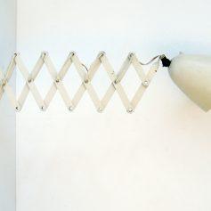 Vintage Fifties white painted scissors lamp