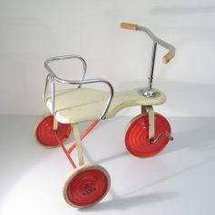 Vintage fifties wood and metal tricycle