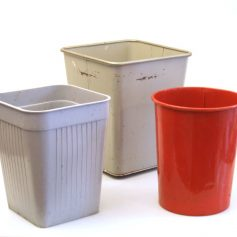 Vintage retro sixties dust bins