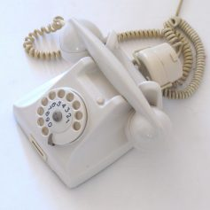 White bakelite vintage fifties Ericsson telephone
