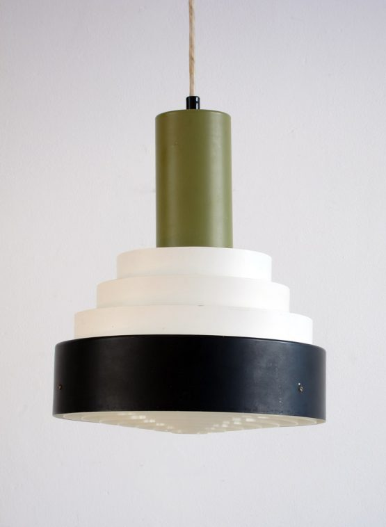 Great Fog and Morup vintage sixties metal pendant in great condition. Dimensions: height 32 cm, diameter 29 cm.