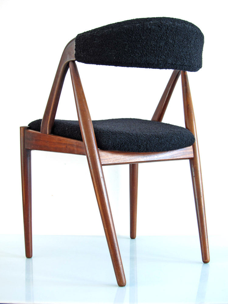 Scandinavian vintage wooden dining table chair