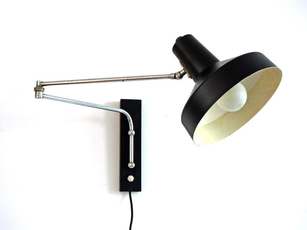 Adjustable Height Wall Lamps : Sixties vintage adjustable wall lamp - Sold - Eames, Braakman, Friso Kramer, Rietveld, Mid ...