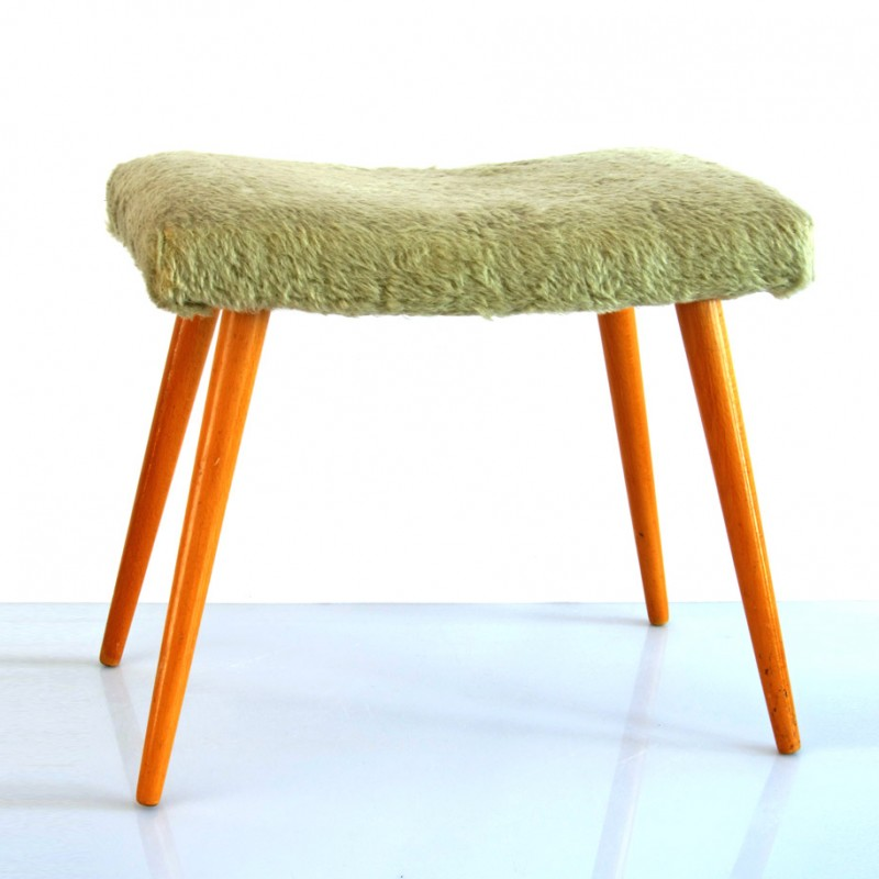 Sixties-vintage-wooden-foot-stool