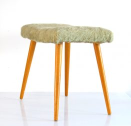 Sixties vintage wooden foot stool2
