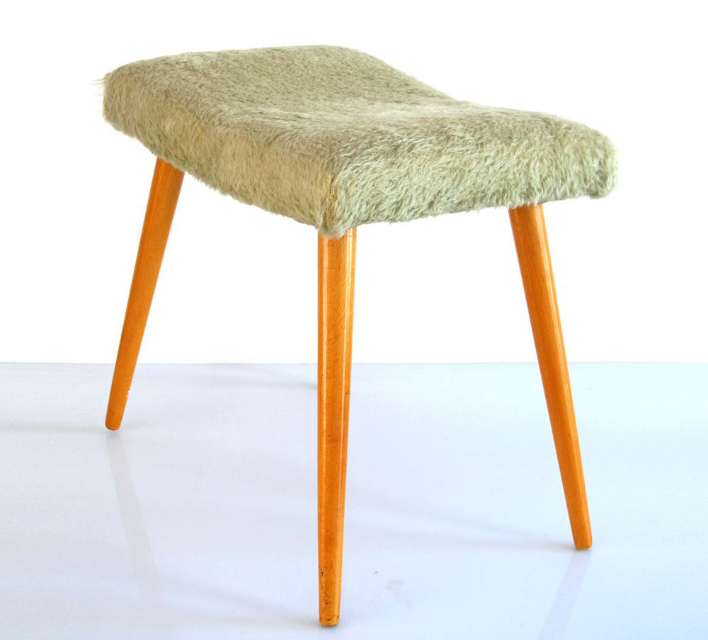 Sixties Vintage Wooden Foot Stool