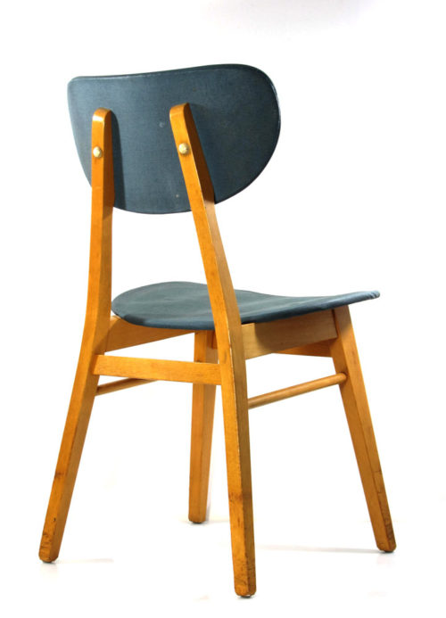 2 Fifties vintage wooden table chairs