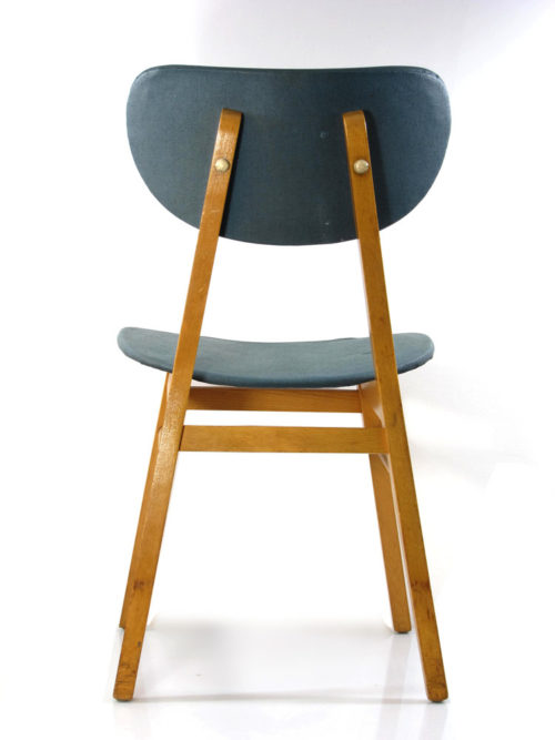 2 sixties wooden dining chairs, vintage retro