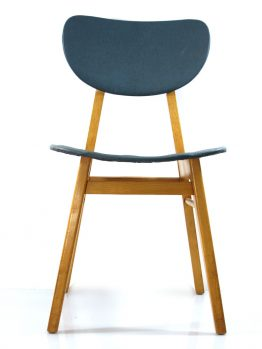 2 wooden fifties dining chairs, vintage retro
