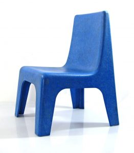 9 Blue seventies childrens chairs