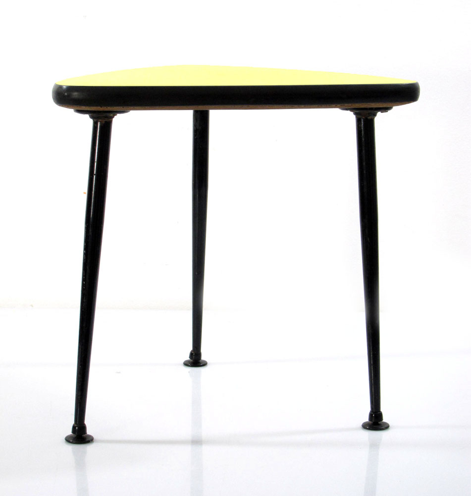 Hanging beds from ceiling - Home Sold Items Fifties Vintage Yellow Triangular Side Table