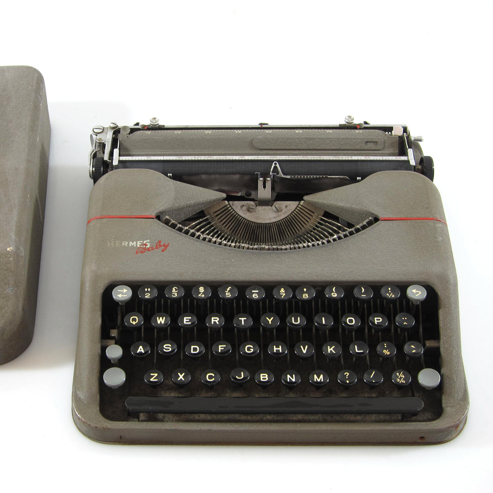Hermes Typewriter With Case 1943 Baby Portable Sold