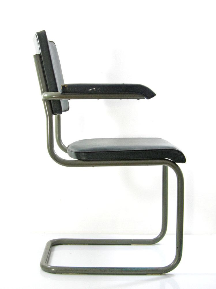 Marcel Breuer style vintage Bauhaus cantilever chair
