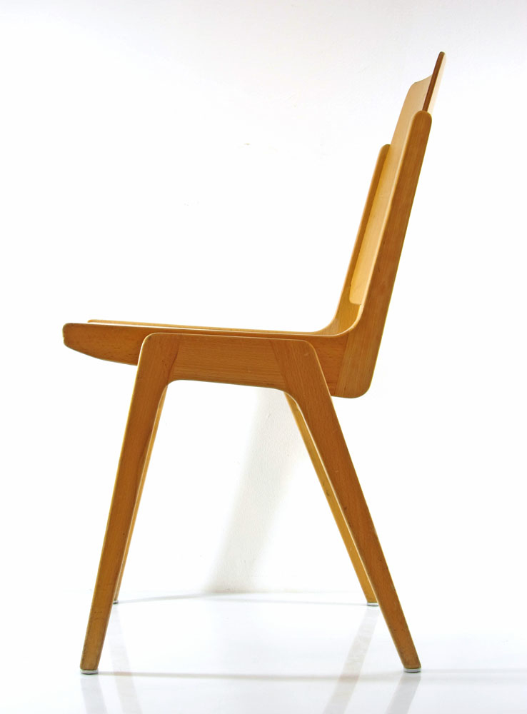 Franz Schuster Wiesner Hager 1959 Vintage Plywood Chairs
