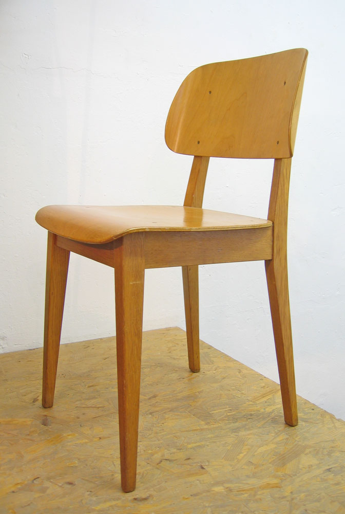 Pastoe Cees Braakman retro plywood chair.