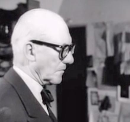 Le Corbusier in his Paris home and studio