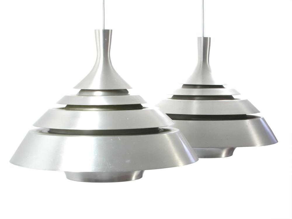 Hans Agne Jakobsson Sixties Retro Aluminium Lamps