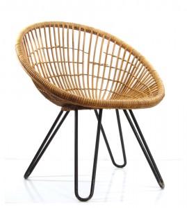 Noordwolde, Dirk van Sliedrecht vintage fifties design ratan chair