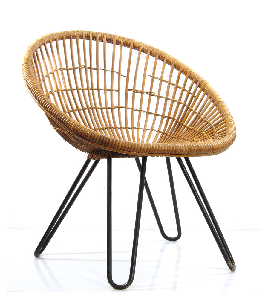 Dirk van sliedrecht vintage rotan relax chair for Relaxing chair design