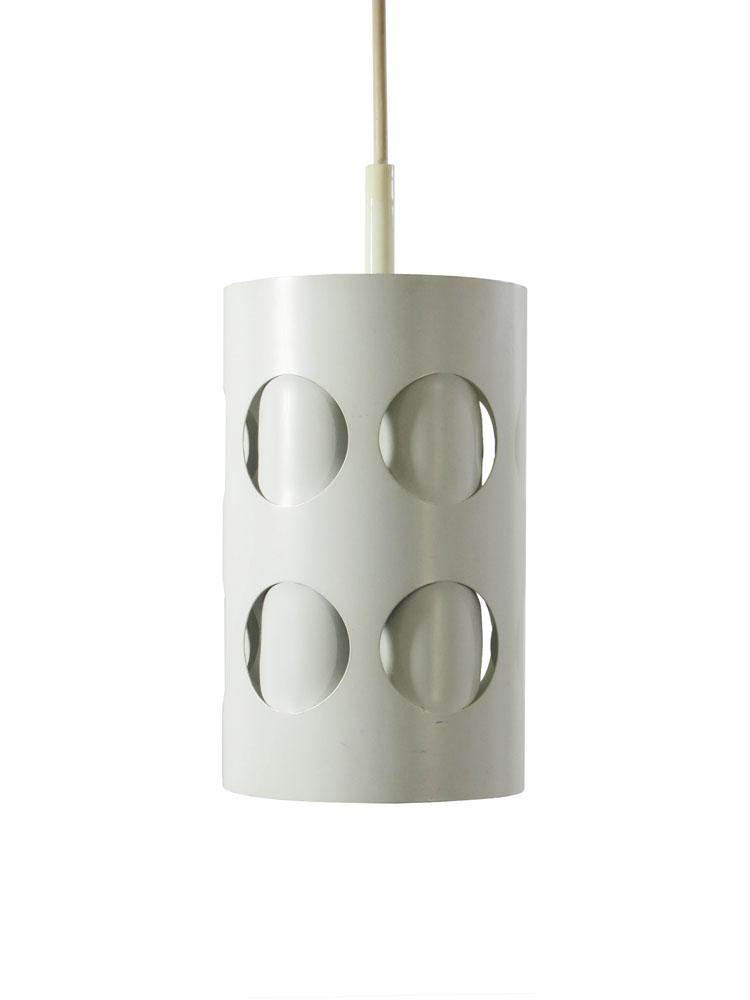 Sixties Raak vintage design metal folded pendant