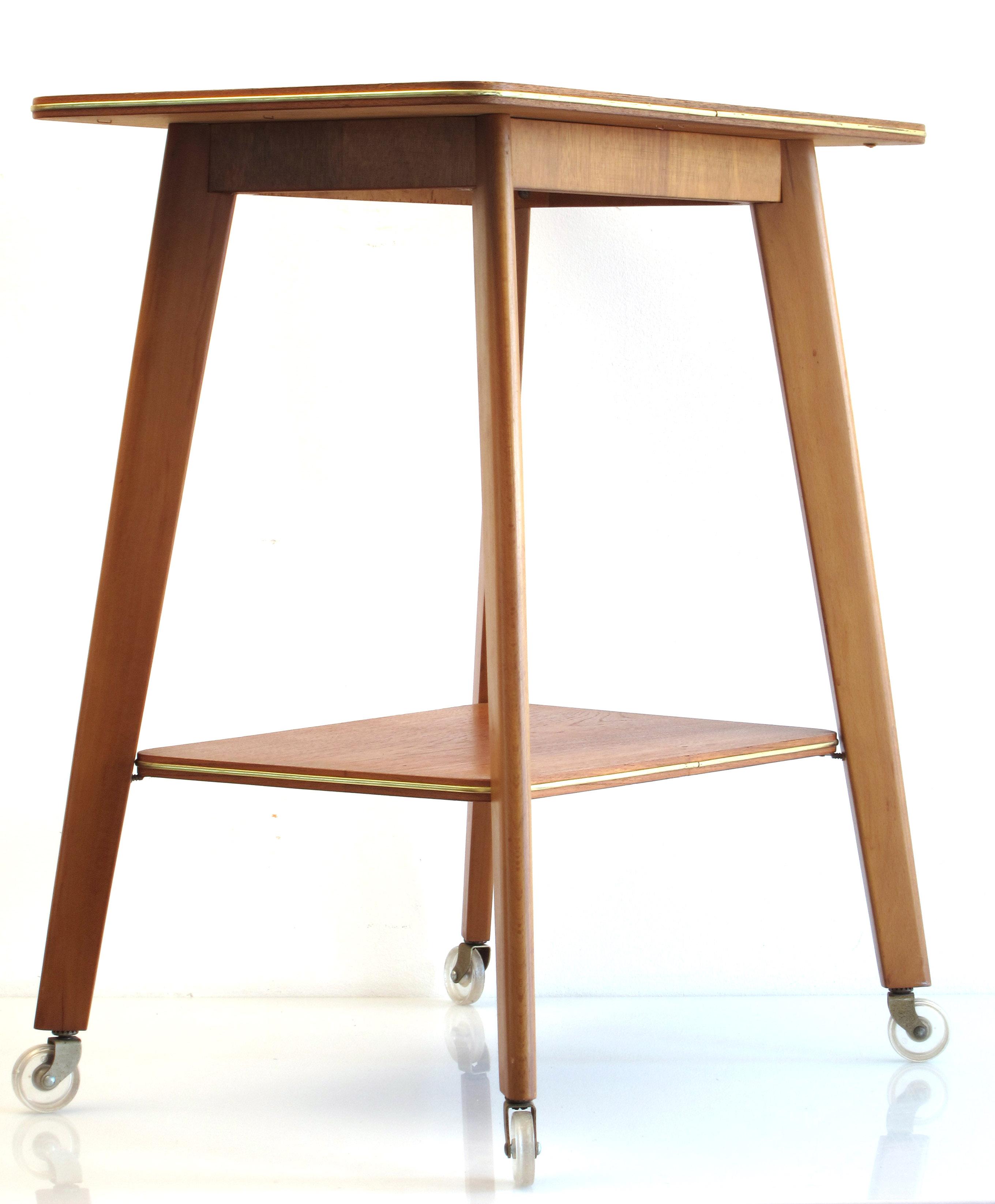 Fifties wooden vintage design tea trolley