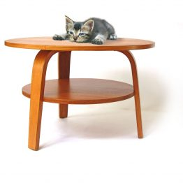 Cees Braakman Pastoe Oak series plywood coffee table