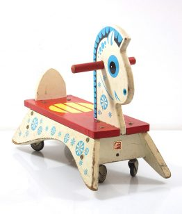 Fifties retro children's horse with wheels