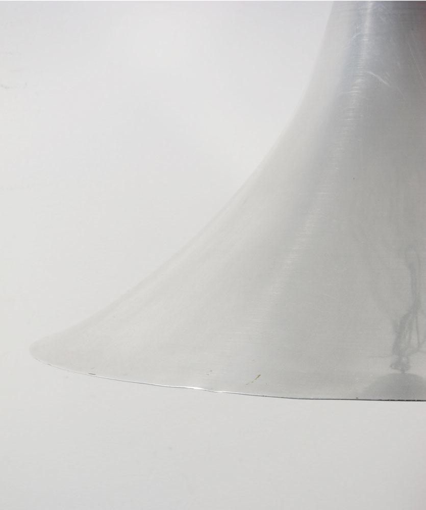 Large vintage Aluminium sixties pendant