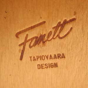4 Tapiovaara Fanett vintage original dining chairs