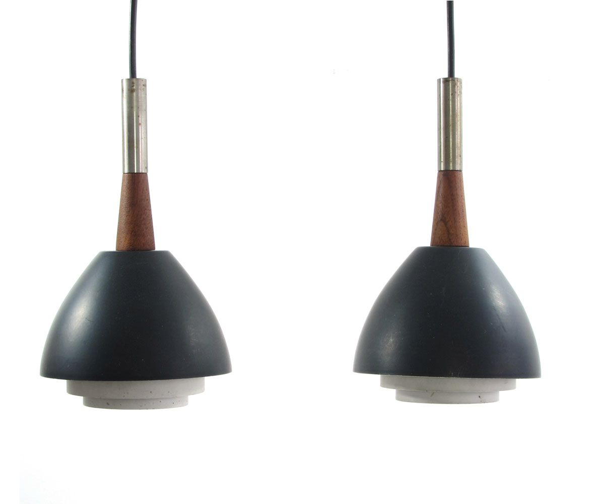 2 henningsen style sixties vintage hanging lamps. Black Bedroom Furniture Sets. Home Design Ideas