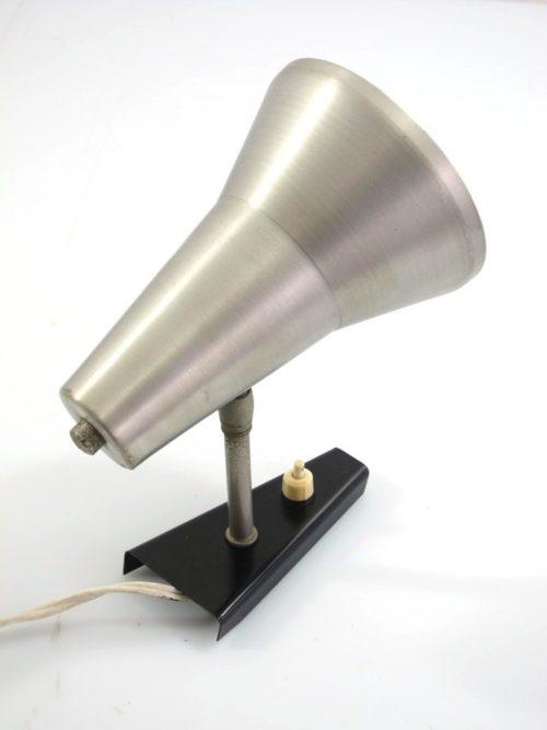 Aluminium Sixties vintage adjustable wall lamp