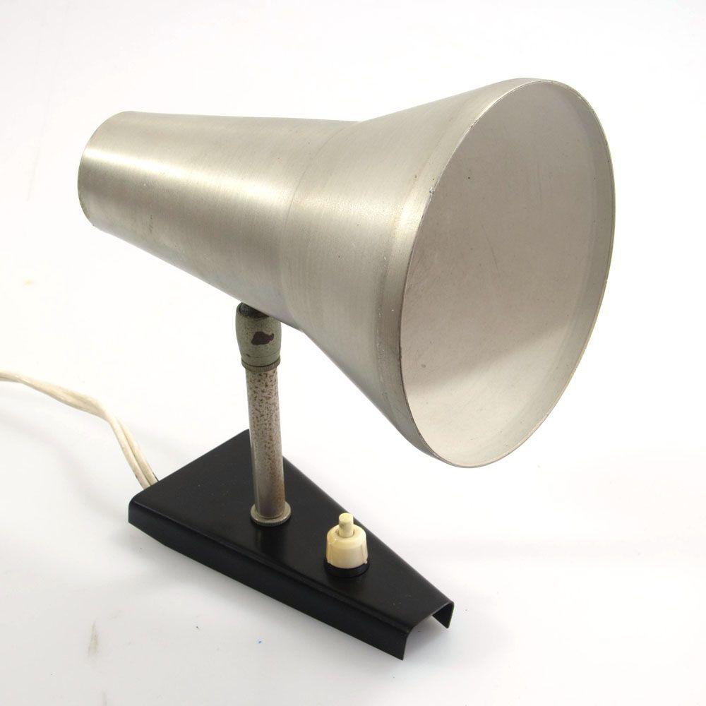 Aluminium fifties vintage adjustable wall lamp