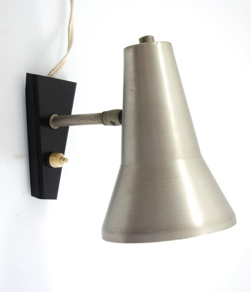 Aluminium vintage adjustable wall lamp