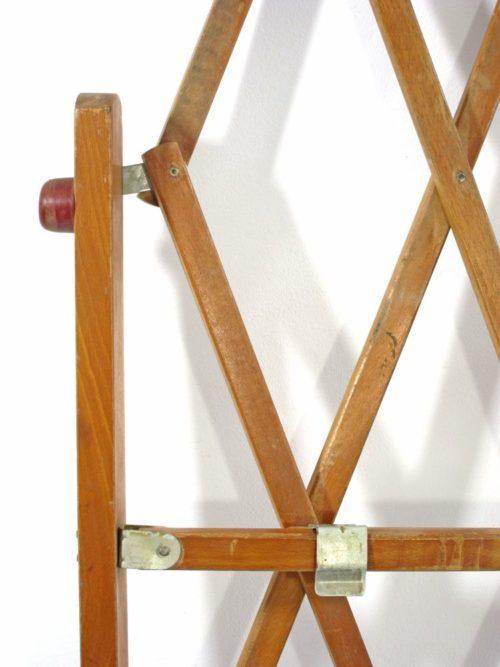 Fifties adjustable wooden vintage pet gate