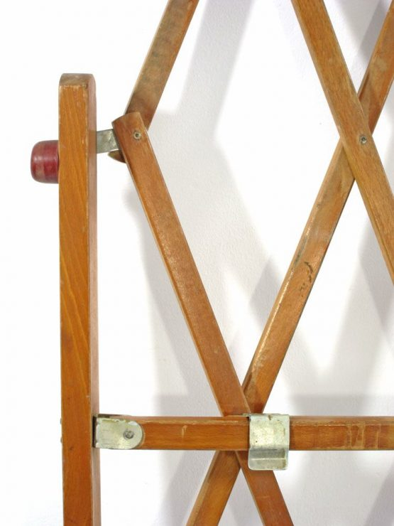 Fifties adjustable wooden vintage pet gate