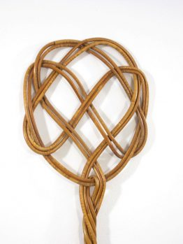 Fifties vintage rattan rug beater