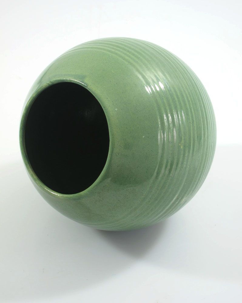 Green Round Fifties Design Ceramic Vase